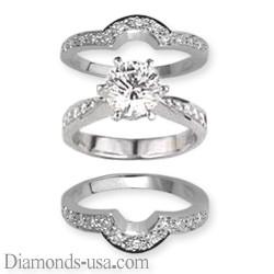 Juegos de anillos nupciales, línea de diseñadores