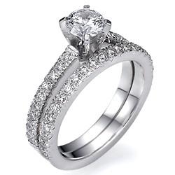 Diamonds bridal set, 1/2 carat side diamonds