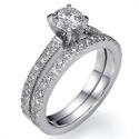 Picture of Diamonds bridal set, 1/2 carat side diamonds