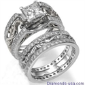 Picture of Our exclusive Art Deco style Bridal rings set