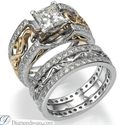 Foto Nuestro exclusivo juego de anillos nupciales de estilo Art Decó de