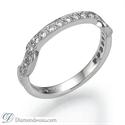 Foto Juego de anillos nupciales de estilo victoriano, 0,90 quilates de