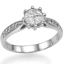 1 carat look engagement ring Martini head