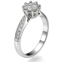 Picture of 1 carat look engagement ring Martini head