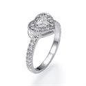 Foto Anillo de compromiso con diamante corazón de 0,70 quilates de