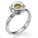 Picture of The Rose, Fancy  Orange Yellow natural diamond