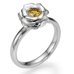 The Rose, Fancy  Orange Yellow natural diamond