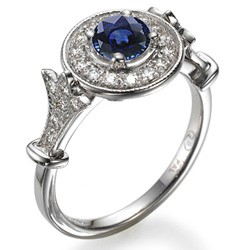 Victorian engagement ring with Sapphires & diamonds