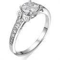 Foto Apariencia de 1 quilate en anillo de compromiso de