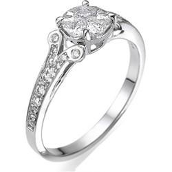 Apariencia de 1 quilate en anillo de compromiso