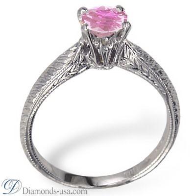 Zafiro rosado de Ceilán de un quilate, ojo limpio