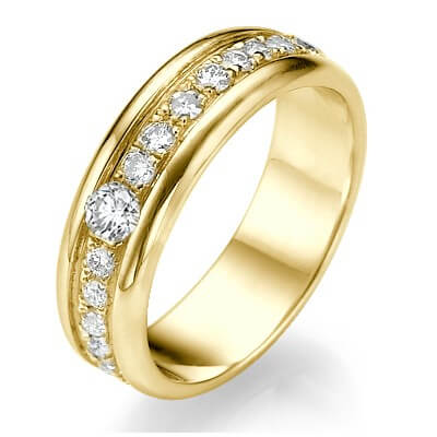 Men, 1.20 carats diamond wedding ring, big sizes