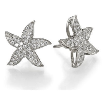 Starfish earrings 1/2 carat round diamonds