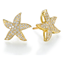 Picture of Starfish earrings 1/2 carat round diamonds