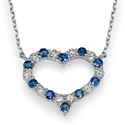 Picture of Diamonds & Sapphires Heart necklace