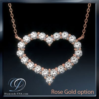 Diamonds Heart necklace