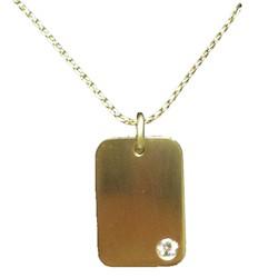 Placa de oro con diamante para inscripción