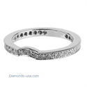 Picture of 0.40 carat Pave set waved wedding band