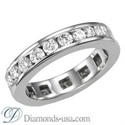 Picture of 1.90 carat Round Diamond Eternity Ring - F VS