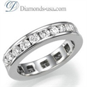Picture of 1.90 carat Round Diamond Eternity Ring - I SI2