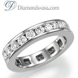 1.90 carat Round Diamond Eternity Ring - I SI2