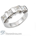Picture of 1 carat four Princess cut diamons Anniversary ring
