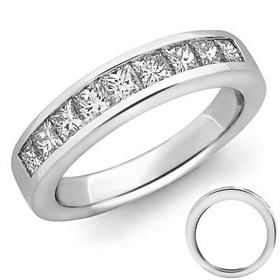 1.50 carat 9 princess diamonds band