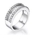 Picture of Baguette and round diamonds wedding band