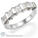 Picture of Anniversary ring, 1.25 carats Princess diamonds.