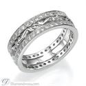 Foto Anillo de boda o aniversario de diamantes estilo Art Decó de