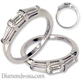 Picture of 0.55 carats three diamond Baguettes wedding ring.