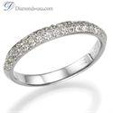 Picture of 3mm Knife Edge wedding ring with diamonds