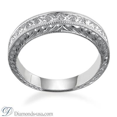 Vintage style wedding ring, 1.00 carats .