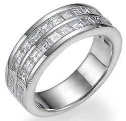 Caree diamonds wedding ring