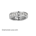 Picture of 9 Round diamonds Anniversary or wedding ring