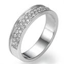 Foto Alianza de boda de diamantes de