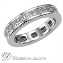 Picture of Eternity band, Princess diamonds.3.84 carat