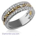 Foto Engaste de anillo de boda con diamantes redondos de