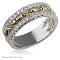 Picture of Art Deco wedding ring set with round diamonds