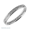 Picture of 2.5mm Eternity Wedding Band, 0.35carats