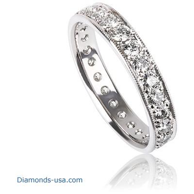 Eternity ring with 0.64 carat round diamonds