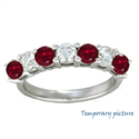 Picture of Diamonds and Rubies/Sapphires ring, 2.26 carats total