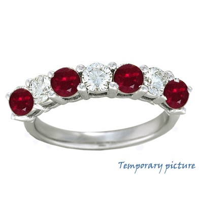 Diamonds and Rubies/Sapphires ring, 2.26 carats total