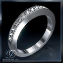 Picture of Princess diamond anniversary band, 1.20 carats