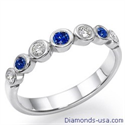 Picture of Seven Diamonds & Sapphires wedding ring