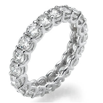 The waves eternity diamonds band 3.05Cts total weight