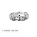 Picture of Wedding band with 1.35 carat Princess diamonds