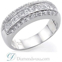 Picture of Wedding or anniversary ring with 1 carat diamonds