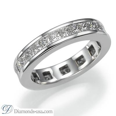 Diamonds eternity ring, 2.35 carat princess