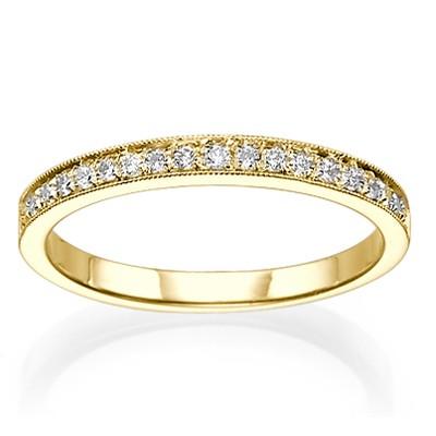 Matching band with side diamonds